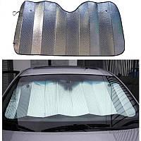 Солнцезащитная автомобильная шторка на лобовое стекло 130*60 см, фото 1