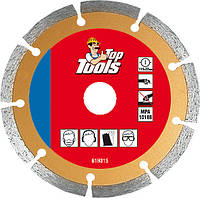 Диск алмазный, 125 x 22.2мм, сегментный, Top Tools 61H325.