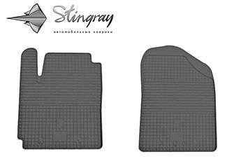 Kia Picanto 2011- Комплект из 2-х ковриков Черный в салон