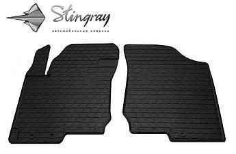 Kia Cerato 2009-2013 Комплект из 2-х ковриков Черный в салон