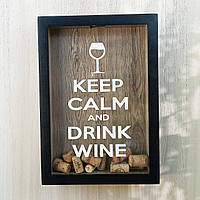 Копилка для винных пробок (глубокая) - Keep Calm and Drink Wine (#4)