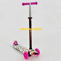 Самокат с рисунком  Best Scooter MAXI  Розовый 24652
