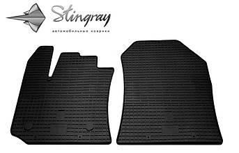 Renault Lodgy 2012- Комплект из 2-х ковриков Черный в салон