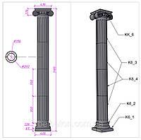 Колонна античная ∅292 мм с римской капителью (K6K)