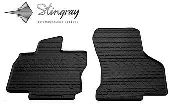 Skoda Superb 2015- Комплект из 2-х ковриков Черный в салон