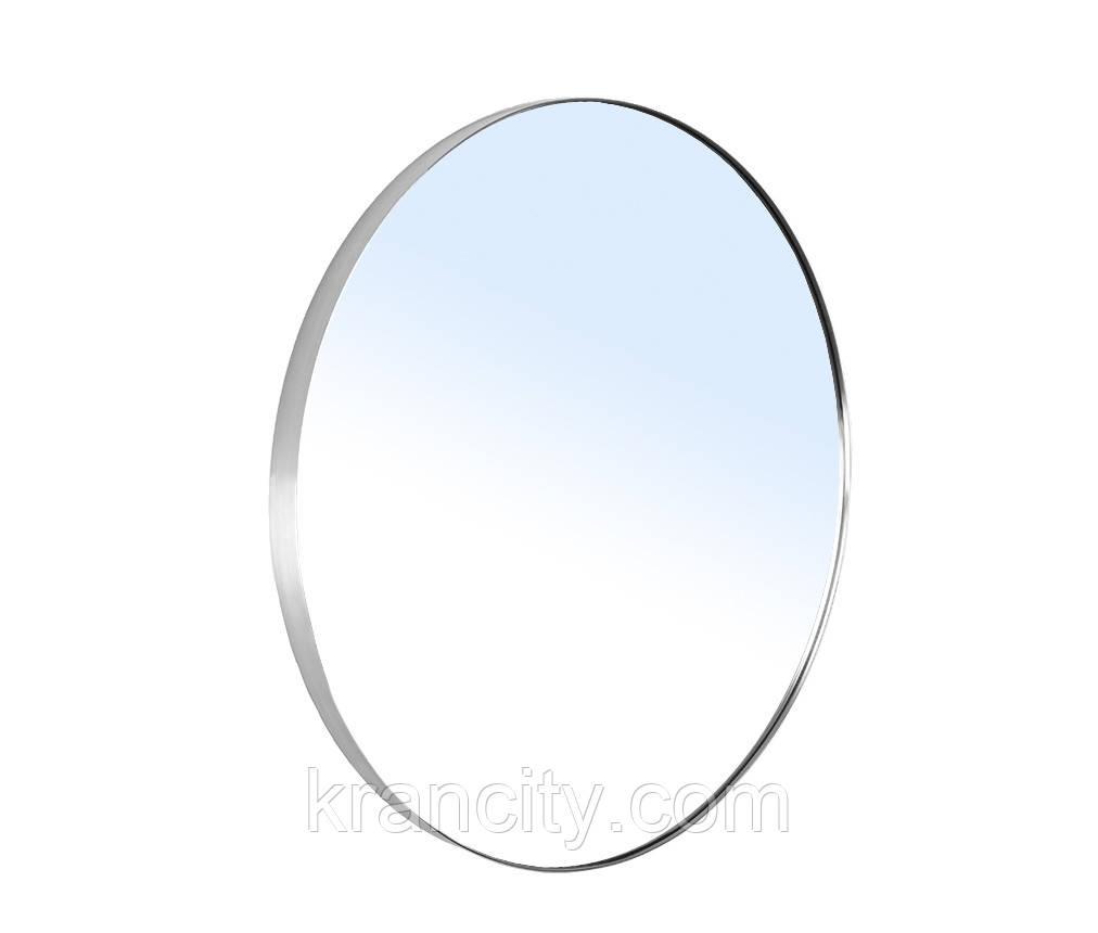 Зеркало круглое 60*60см на шлифованной нержавеющей раме с подсветкой Volle 16-06-999