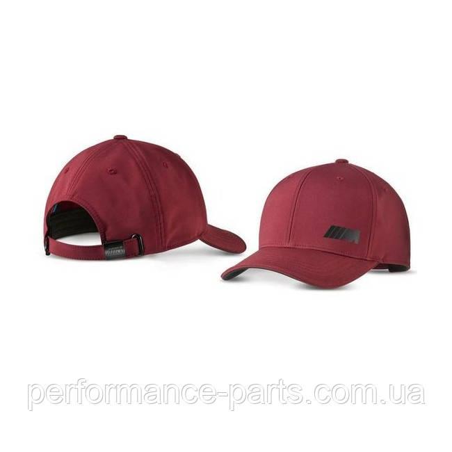 Бейсболка унисекс BMW M Logo Cap, Burgundy, артикул 80162463090