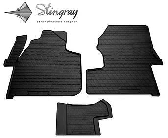 Volkswagen Crafter (1+2) 2006- Комплект из 3-х ковриков Черный в салон