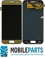 Дисплей для Samsung A3 2017   A320 с сенсорным стеклом (Золотой) Оригинал Китай