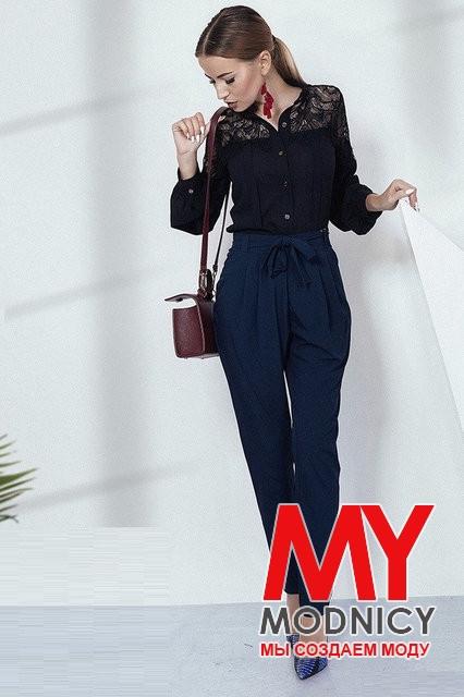 Женские брюки с завышенной талией 3807