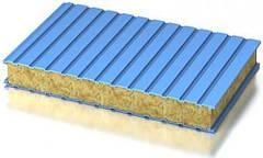 Стеновые сэндвич-панели минеральная вата