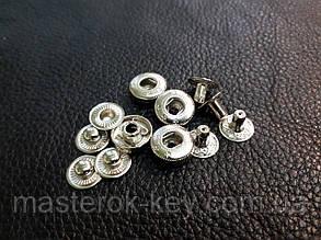 Кнопка альфа 12мм. Италия цвет никель 633/01k Без шляпки