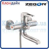 Смеситель для ванны короткий Zegor PUD3-KH WKB045 (нержавейка)
