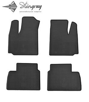 Fiat Doblo 2001-2010 Комплект из 4-х ковриков Черный в салон