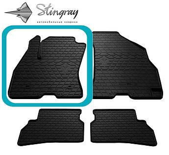Fiat Doblo 2010- Водительский коврик Черный в салон