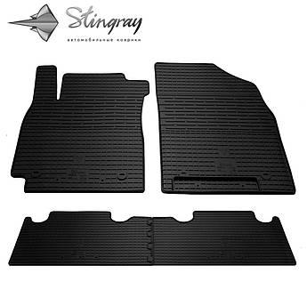 Geely Emgrand X7 2013- Комплект из 4-х ковриков Черный в салон