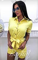 Стильный женский комбинезон летний с бантом,Цвета: мята, желтый, пудра  ,42-44, 44-46 ,код 0366, фото 6