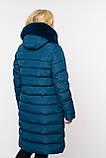 Пуховик женский с эко мехом мутона Аксинья размеры 58 - 64 Новая коллекция Зима NUI VERY, фото 3