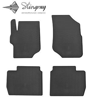 Citroen C-Elysee II 2013- Комплект из 4-х ковриков Черный в салон