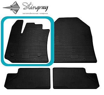 Renault Lodgy 2012- Водительский коврик Черный в салон