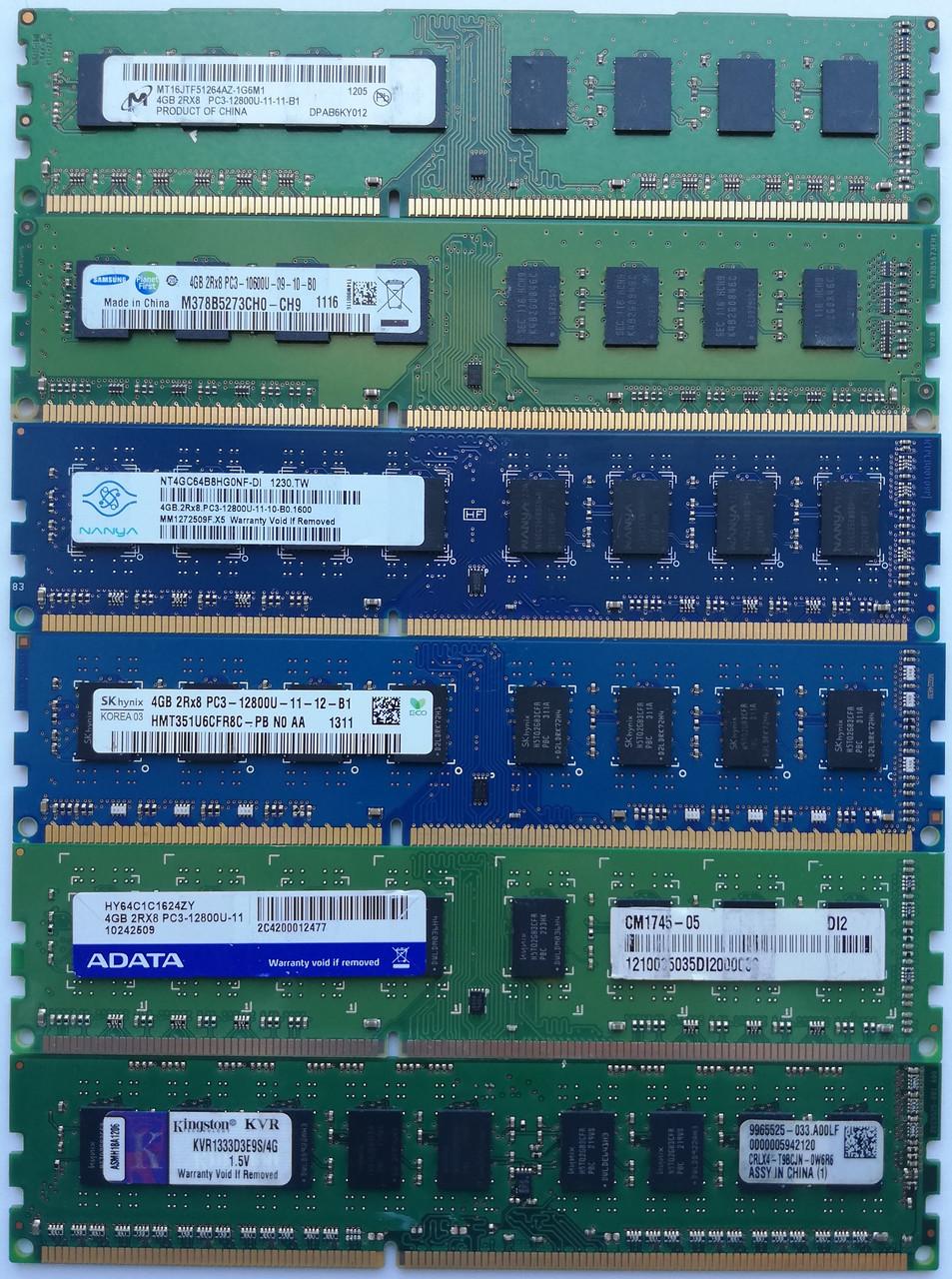 Оперативная память DIMM DDR3 4Gb 1333/1600MHz Б/У Под ремонт и восстановление!