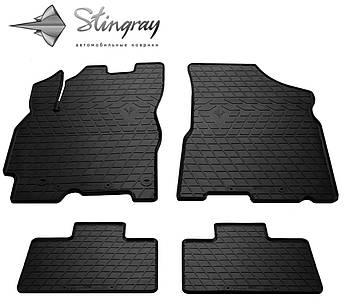 CHERY Tiggo 2 2017- Комплект из 4-х ковриков Черный в салон