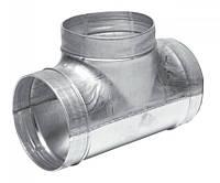 Тройник 125/100 вентиляционный круглый