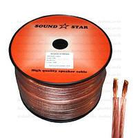 Кабель акустический Sound Star, медь Cu, 2х1.5мм², прозрачно-розовый, 100м