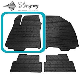 Chevrolet Aveo (T300) 2011- Водительский коврик Черный в салон