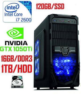 Игровой компьютер Core i7 / DDR3-16GB / SSD-120GB / HDD-1TB / GeForce GTX 1050Ti 4GB, фото 2