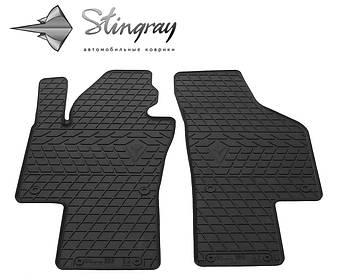 Volkswagen Sharan 2010- Комплект из 2-х ковриков Черный в салон