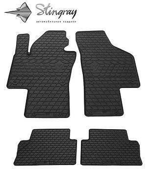 Volkswagen Sharan 2010- Комплект из 4-х ковриков Черный в салон