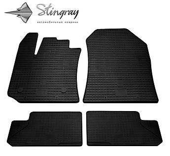 Renault Lodgy 2012- Комплект из 4-х ковриков Черный в салон
