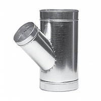 Тройник угловой 250/125-45 для вентиляции