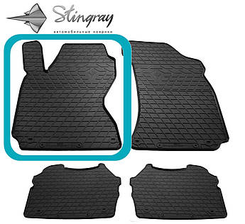 Skoda Superb 2002- Водительский коврик Черный в салон