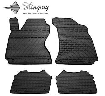 Skoda Superb 2002- Комплект из 4-х ковриков Черный в салон