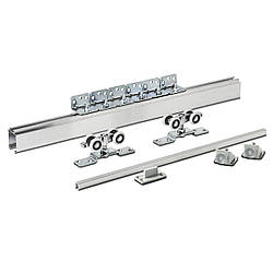 Розсувна система для дверей Новатор 125 з металевими каретками