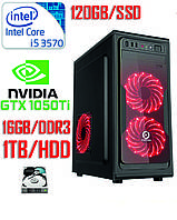 Игровой компьютер Intel Core i5 4-ядра 3.4GHz /DDR3-16Gb/SSD-120GbHDD-1Tb/GTX1050Ti  |РАССРОЧКА|