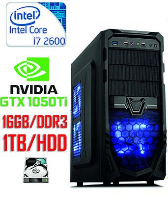 Игровой компьютер Core i7 4-ядра 3.4GHz/DDR3-16GB/HDD-1TB/ GTX1050Ti 4GB, фото 2