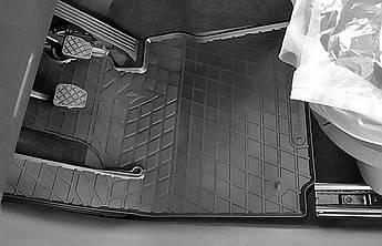 Volkswagen Caddy 2003- Комплект из 2-х ковриков Черный в салон
