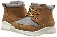 Ботинки детские OshKosh деми рыжие eur 25 26 28 29 хайтопы теплые кроссовки для мальчика