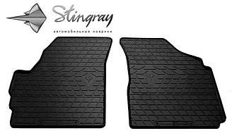 Chery QQ 2003- Комплект из 2-х ковриков Черный в салон