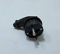Вилка боковая 16 Ампер с заземлением прорезиненная АВаТар