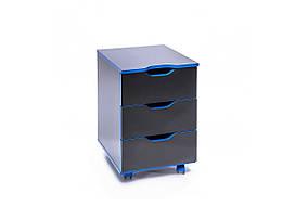 Тумба мобильная Homework Game Blue THG-01 Черный/Синий (Barsky ТМ)