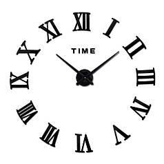 """Часы зеркальные черные диаметр от 80см до 1 метр 20см """"римские 3D часы большие"""""""