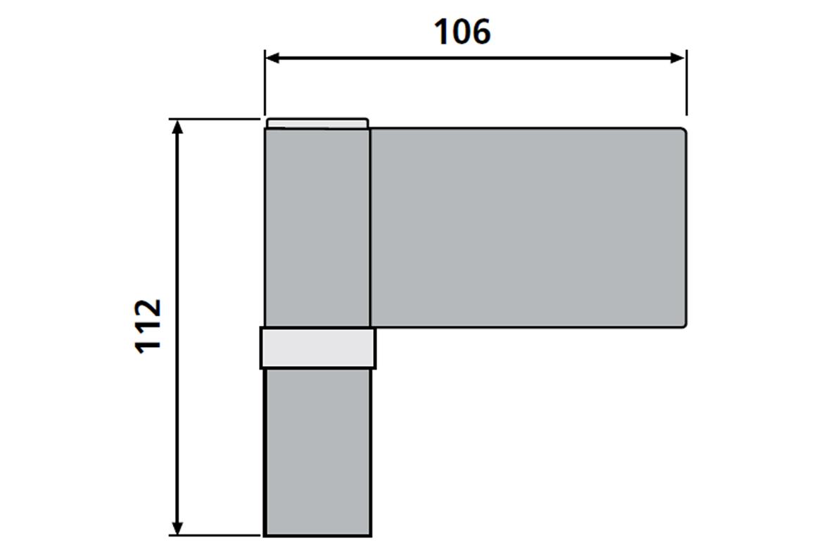 Дверна петля Dr.Hahn KT-V Band ПВХ 160 кг., 18-23 mm золото матове