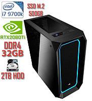 Игровой компьютер NG i7-9700K A2 / i7-9700K / DDR4-32Gb / SSD M.2 - 500Gb / HDD-2Tb / GeForce RTX2080Ti