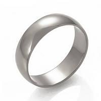 Гладкое обручальное кольцо из белого золота, ОК015.5Б