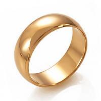 Классическое золотое обручальное кольцо, ОК015.6 20.5