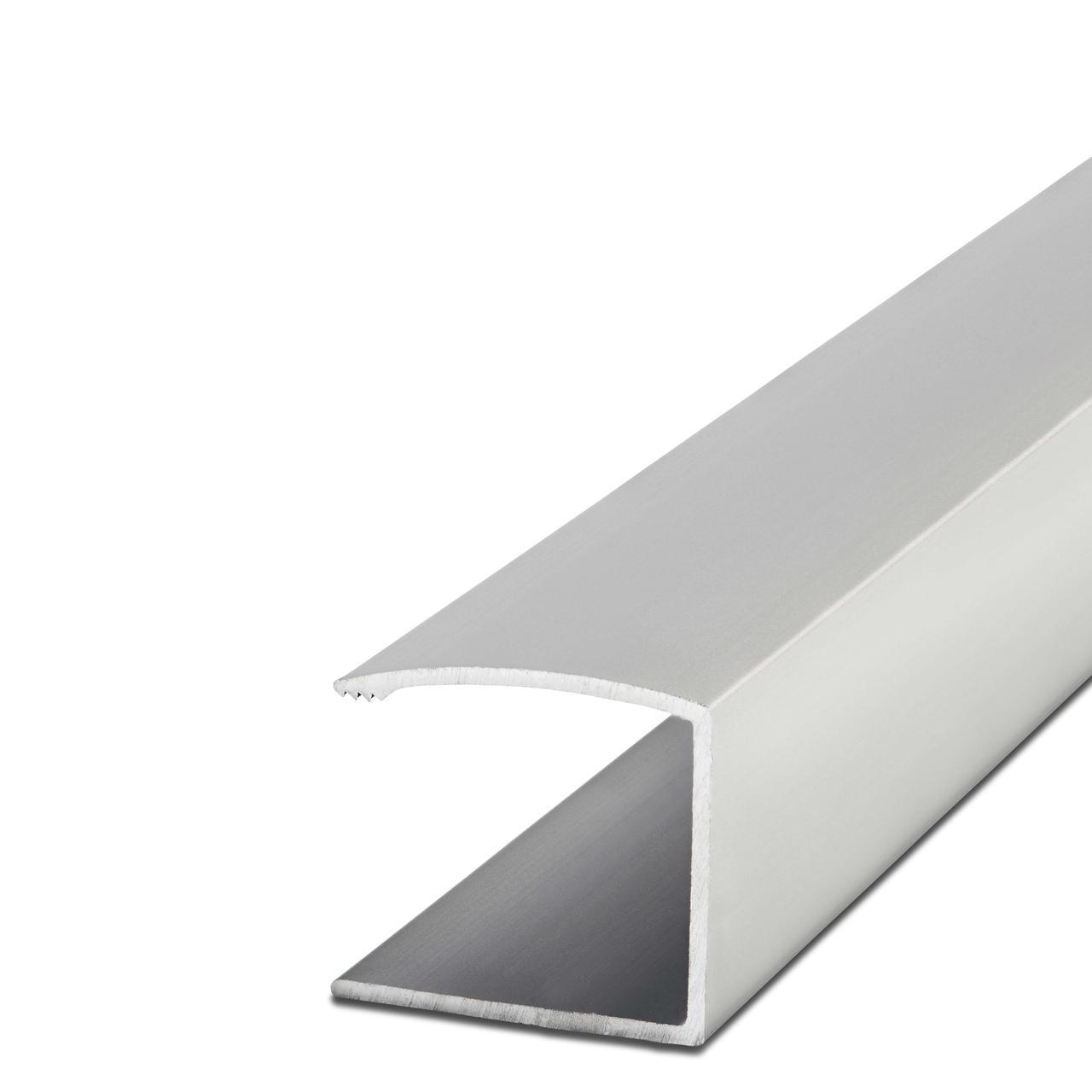 Кромка-профиль 16мм. AL-16-2 2.7м. алюминий